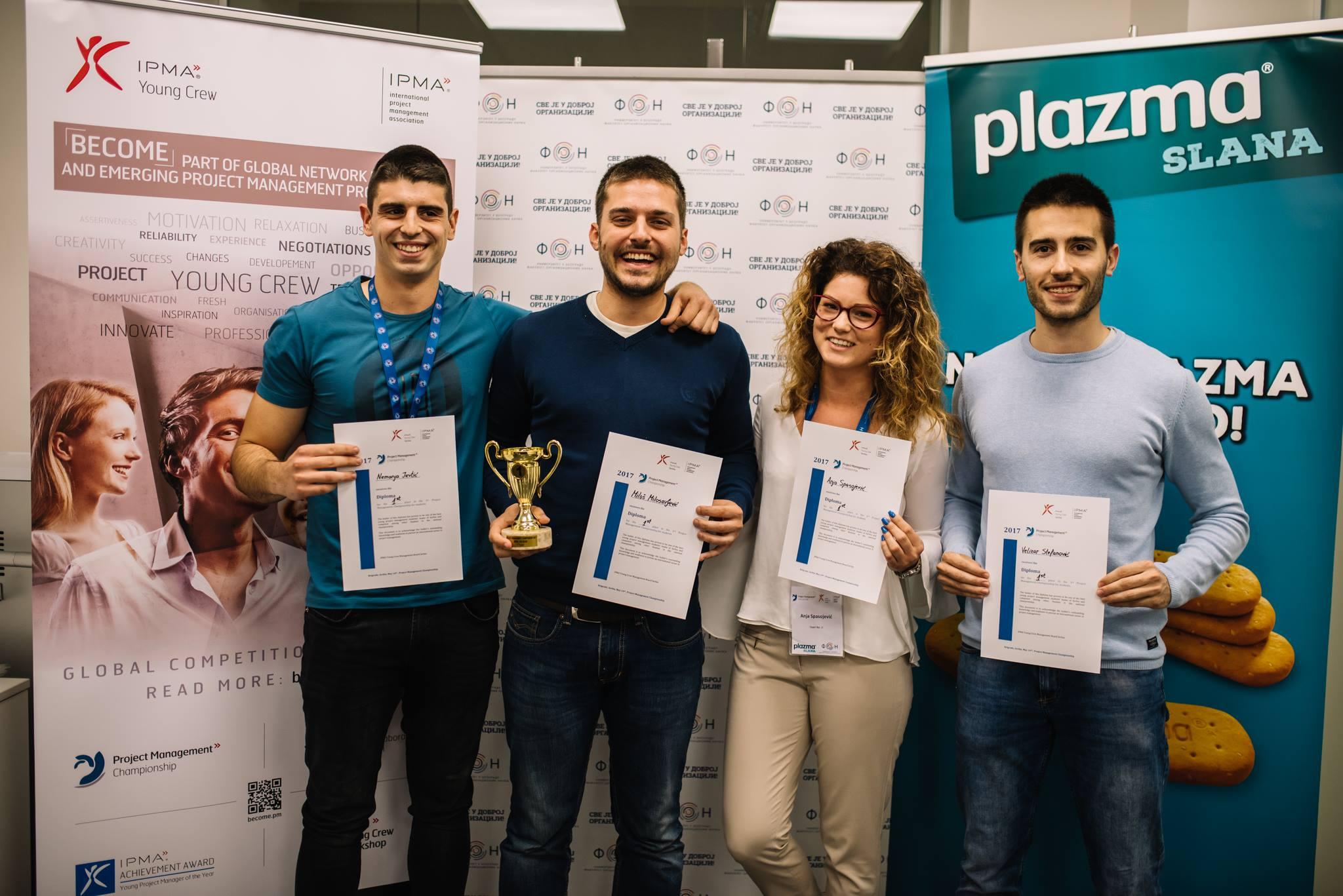 Studenti FON-a prvoplasirani na takmičenju Project Management Championship 2017