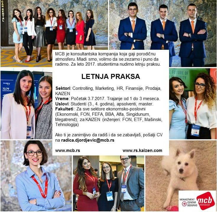 praksa u kompaniji Menadžment Centar Beograd