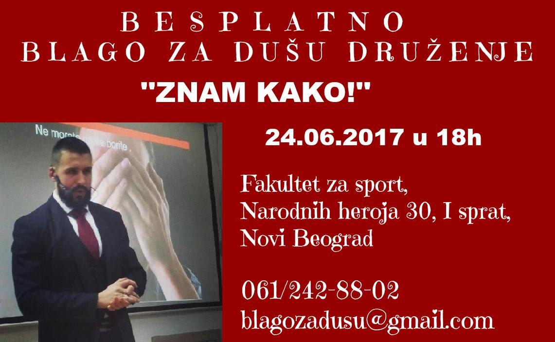 "Predavanje za lični razvoj: ""Znam kako"" @ Fakultet za sport   Novi Beograd   Srbija"