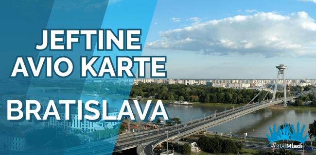 Povratne avio karte za Bratislavu