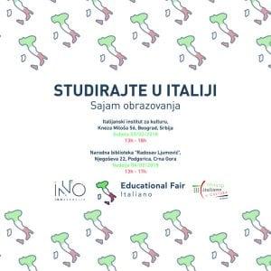 Educational Fair Italiano – Sajam obrazovanja italijanskih univerziteta @ Kneza Miloša 56, Beograd