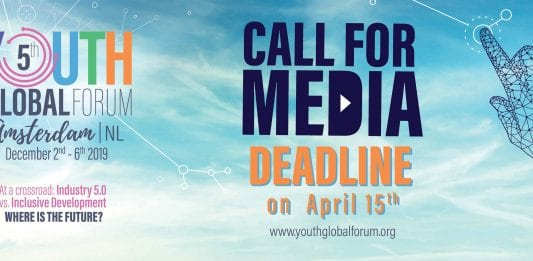 Apply as a Journalist - Youth Global Forum 2019, Amsterdam